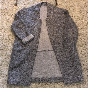 Comfortable Grey Tunic Sweater